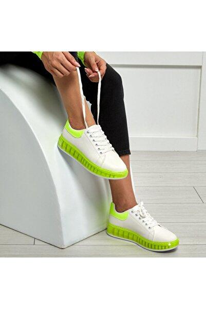 Butigo Marlena Sarı Kadın Kalın Taban Sneaker Spor Ayakkabı