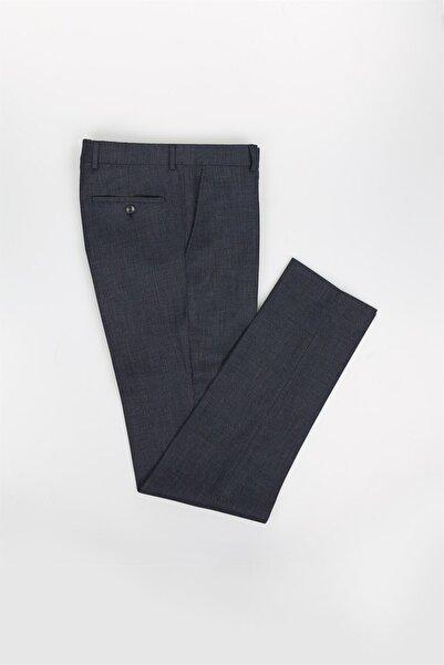 Jakamen Koyu Lacivert Slim Fit Desenli Erkek Pantolon