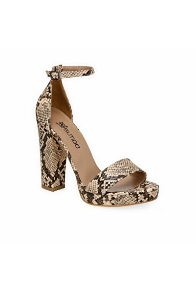 Butigo Sebastiano Bej Kadın Topuklu Ayakkabı