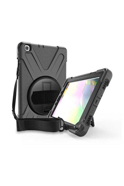 zore Galaxy Tab S6 Lıte P610 Kılıf 360 Dönebilen Standlı Zırhlı Defender Tablet Silikon