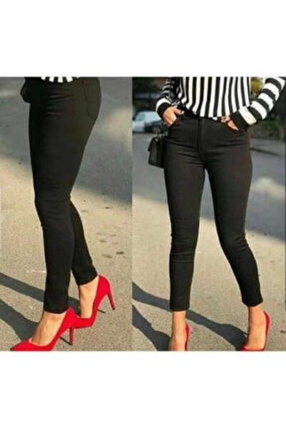 Bayan Siyah Keten Pantolon