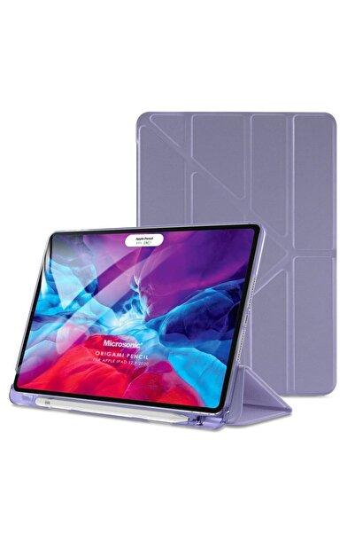 Microsonic Apple Ipad Pro 12.9'' 2020 4.nesil Kılıf (A2229-a2069-a2232) Origami Pencil Lila