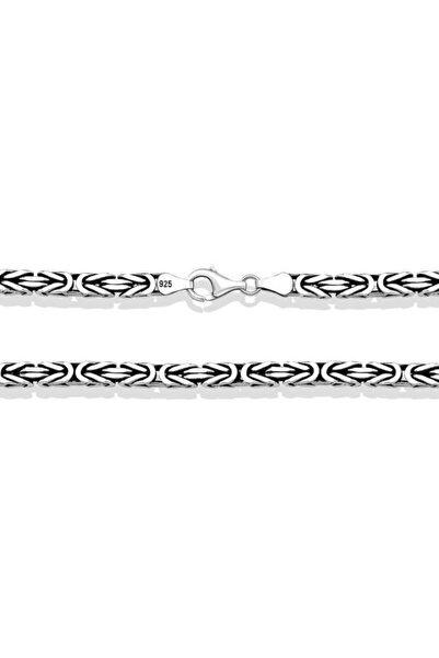 Gumush Gümüş Kral Zincir - 4 Mm Köşeli