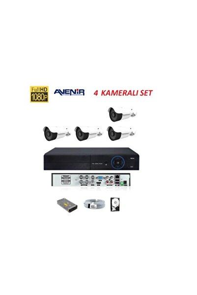 AVENİR Admin-grup 4 Lü Fullhd Güvenlik Kamerası Set