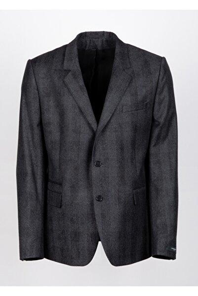 Givenchy Erkek Antrasit Ekoseli Ceket