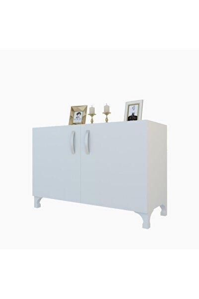 Kenzlife Beyaz Kapaklı Ayaklı Mutfak Dolabı 048*090*032