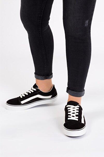 ESPARDİLE Kadın Siyah Süet Günlük Spor Ayakkabı