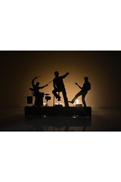 DECO (ÜÇLÜ) Song Müzizyen Metal Mumluk Şamdan