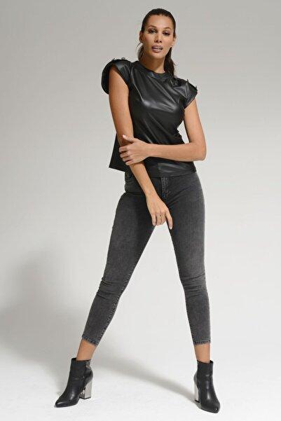 Batik Antrasit Kadın Jean Pantolon A1088