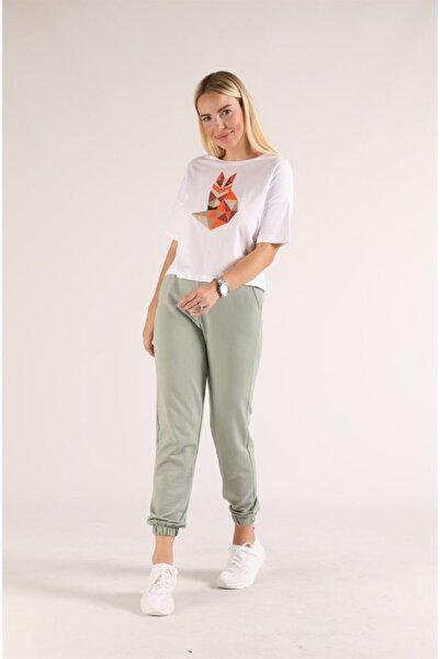 Oblavion Beyaz Tilki Baskılı T-shirt