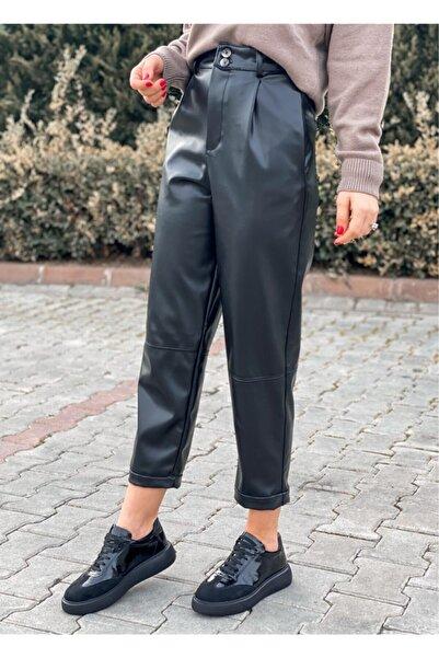 Oblavion Kadın Siyah Pantolon