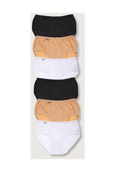 Tutku Kadın Karışık Renk 6'lı Paket Likralı Bato Külot Elf568t0924ccm6 Karışık Renk Xl