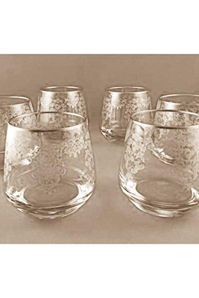 DiamondCrystal Lal Buket Gümüş 6 Adet Su Bardağı Takımı