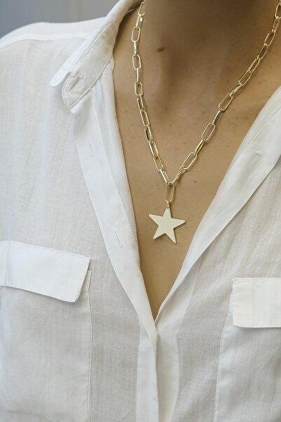 Marjin Kadın Altın Renkli Yıldız Figürlü Kolye