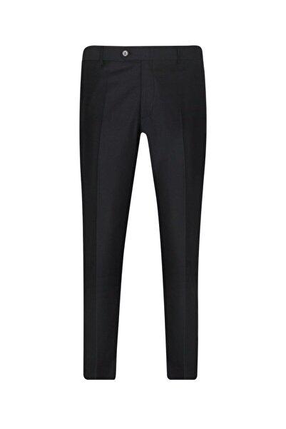 SÜVARİ Rahat Kalıp Siyah Erkek Kumaş Pantolon