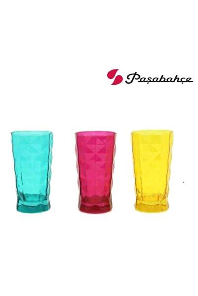 Paşabahçe 95791 Renkli Prizma Meşrubat Bardağı 355 Cc 3 Lü