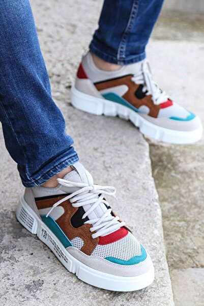 FAST STEP Buz Gri Beyaz Erkek Sneaker Ayakkabı 001ma19805