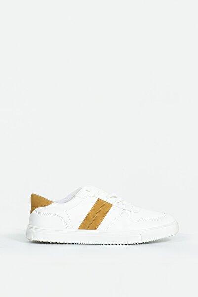 Collezione Camel Yan Ve Arka Parça Detaylı Bağcıklı Erkek Sneaker
