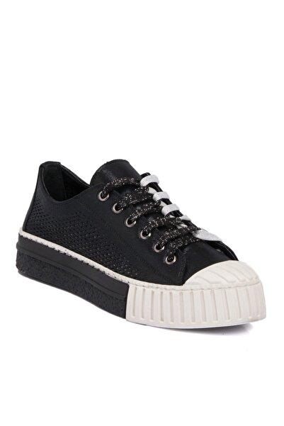 Tergan Siyah Tekstil Kadın Ayakkabı 64411d62