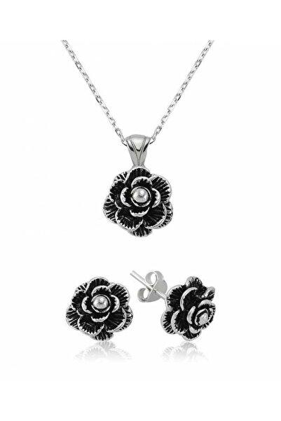 Gumush Çiçek Bayan 925 Ayar Gümüş Set