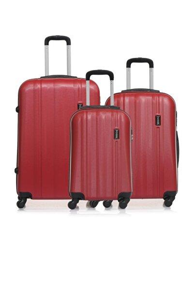 Fossil Fsy1225y-set Kırmızı Unisex 3 Lü Set Bavul