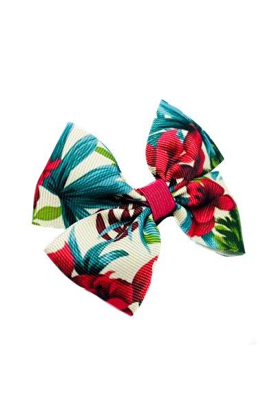 Lovesome Handmade Çiçekli Grogren Kurdele Fiyonk Saç Tokası