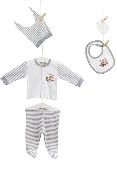 Aziz Bebe Erkek Bebek Hastane Çıkış 5li Takım Azz005245
