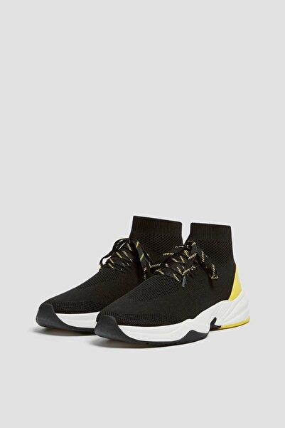 Pull & Bear Erkek Siyah Yüksek Bilekli Çorap Model Spor Ayakkabı 12102740