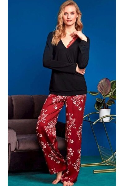 Penyemood Penye Mood 8617 Kadın Pijama Takım Siyah