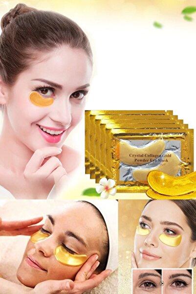 QNİAY Gözaltı Maskesi Kolajen Altın Göz Altı Maskesi Altın Yüz Cilt Bakımı 3 Paket - (2 Li Adet)