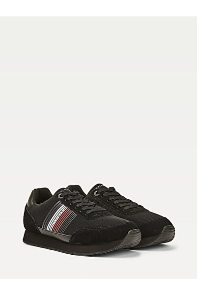 Tommy Hilfiger Erkek Th Corporate Material Mix Runner Sneaker