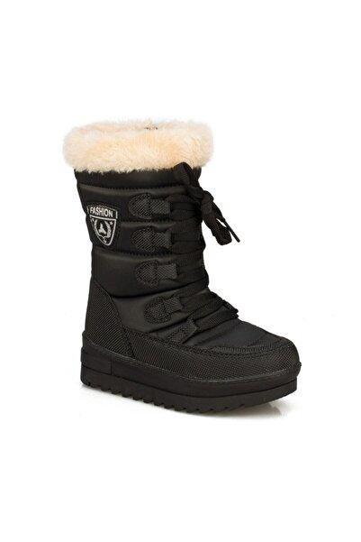 Twingo Kız Çocuk Siyah Termal Kürklü Kışlık Karbotu Ayakkabı