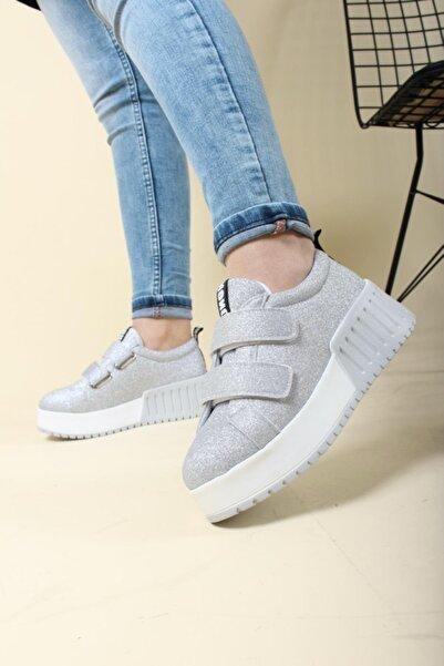 Oksit Florin Vera Yüksek Taban Cırtlı Kadın Sneaker