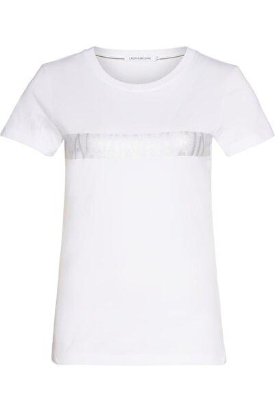 Calvin Klein Metallıc Instıt Logo Strıpe Tee