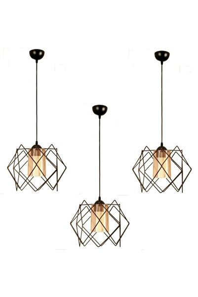 Etsylight 3 Adet Koza One Glass Salon,mutfak Sarkıt Avize