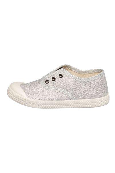 IGOR S10162 Berri Glitter Çocuk Simli Gri Keten Ayakkabı