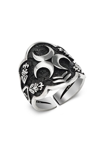 Takıhan Gümüş Üç Hilal Okçu (Zihgir) Model Yüzük
