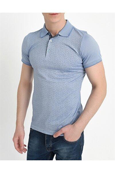Efor Ts 736 Slim Fit Mavi Spor T-shirt