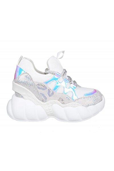 Guja 20y310-3 Dolgu Topuk Beyaz Kadın Sneakers