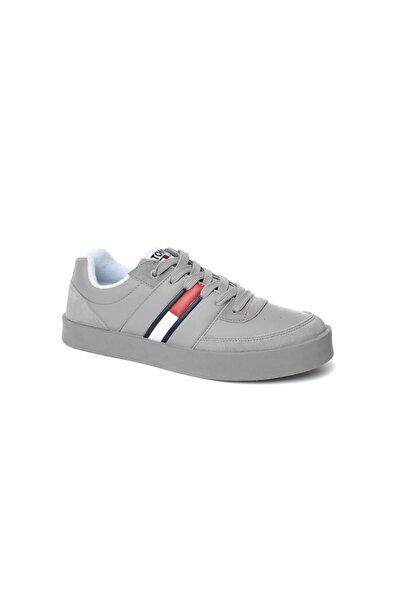 Tommy Hilfiger Gri Erkek Oxford/ayakkabı Em0em00192 031 Tommy Jeans Lıght Sneaker Low Cut Drizzle