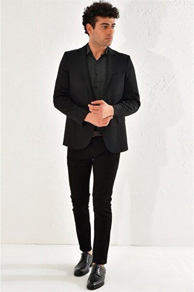 Efor C 553 Slim Fit Siyah Klasik Ceket