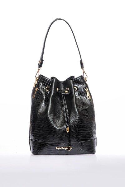 Sergio Giorgianni Luxury Sg0717 Siyah Kadın Omuz Çantası