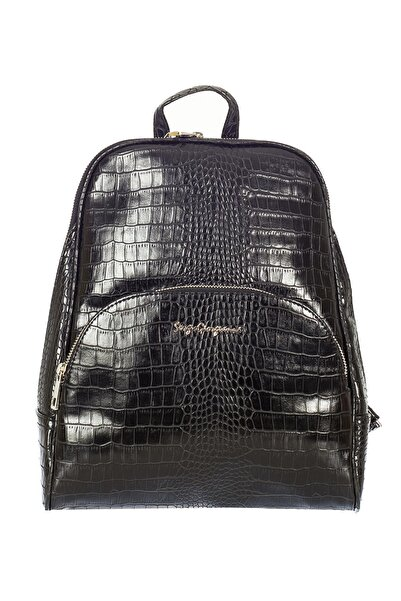 Sergio Giorgianni Luxury Sg1581 Siyah Krk Kadın Sırt Çantası