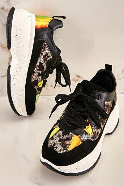 Bambi Leopar Kadın Sneaker K0541104553