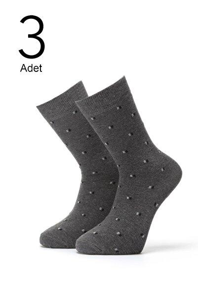 ORBİS 3'lü Erkek Kare Desenli Çorap 4415-a3