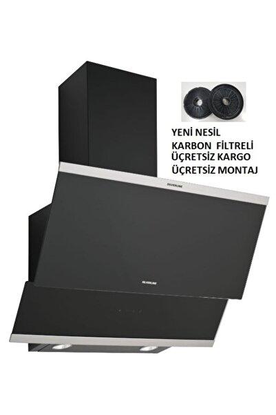 Silverline 3420 Classy 60 Cm Siyah Davlumbaz Karbon Filtreli