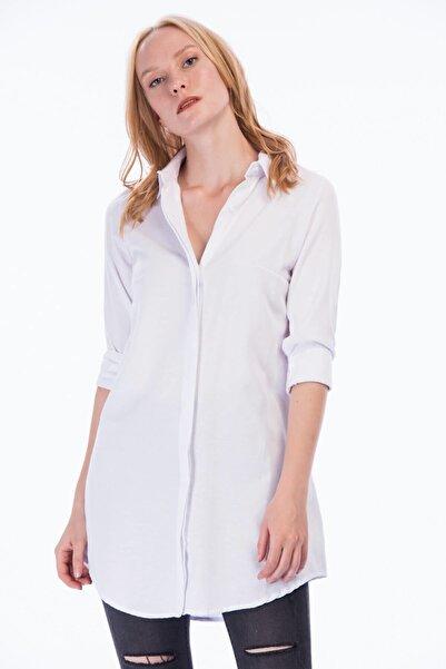 Cotton Mood 8362734 Şamre Uzun Kollu Gömlek Beyaz