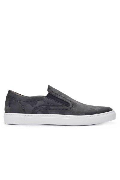 Nevzat Onay Hakiki Deri Gri Sneaker Erkek Ayakkabı -11539-