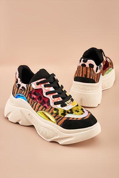 Bambi Multi Leopar Sneaker K0510197409