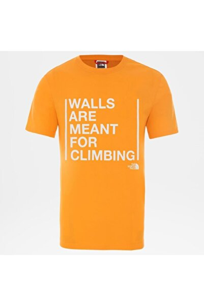 THE NORTH FACE Walls Are For Climbing Erkek T-shirt Turuncu